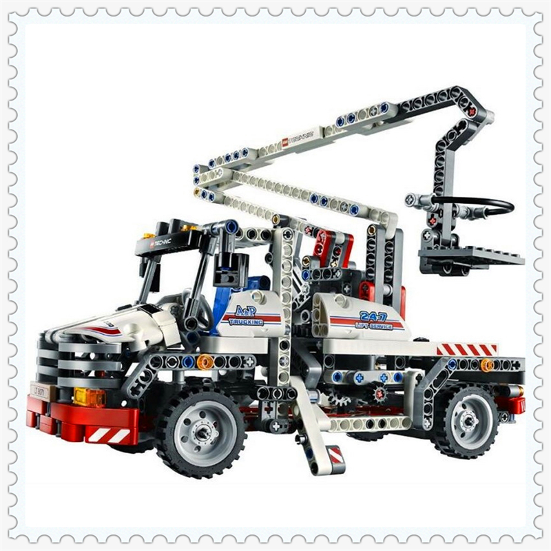 Decool 3350 Technic City Series Bucket Truck Building Block 592Pcs DIY Educational  Toys For Children Compatible Legoe decool 3114 city creator 3in1 vehicle transporter building block 264pcs diy educational toys for children compatible legoe