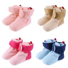 1 pair Unisex Baby Newborn Cozie Faux Fleece Bootie Winter Warm Infant Toddler Crib Shoes Classic Floor Boys Boys Girls Boots(China)