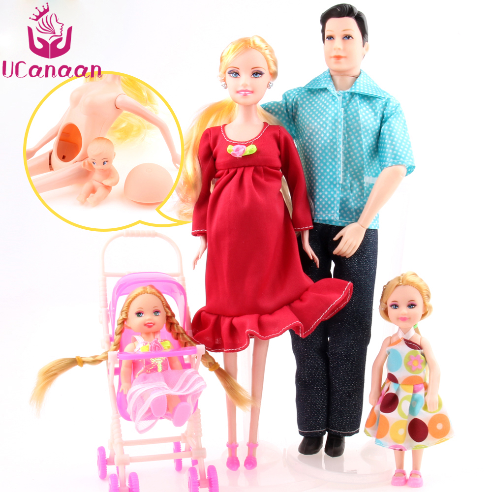 Toys For Mom And Dad : Family people dolls suits mom dad little kelly