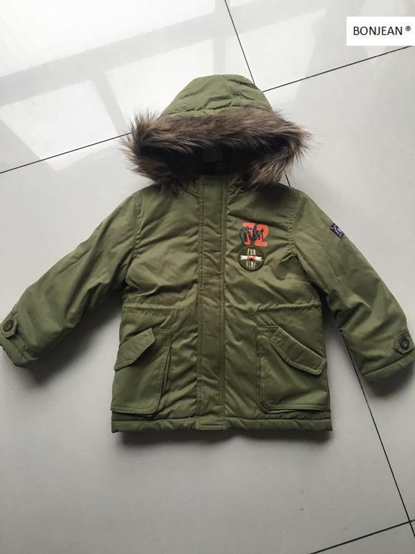 N662017 Winter Baby Boy Coat Worm Hooded Fleece Casual Boy Outerwear Winter Boy Jacket Kids CLothes