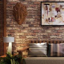 Красный кирпич обои природный деревенский старинные эффект 3D дизайн виниловых обоев для гостиной фоне стены домашнего декора