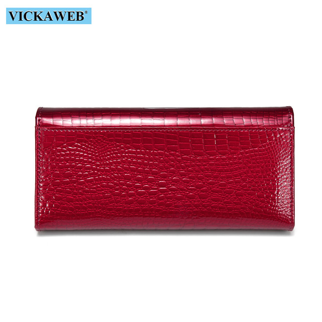 Women Wallets Brand Design High Quality Leather Wallet Female Hasp Fashion Dollar Price Alligator Long Women Wallets And Purses 2