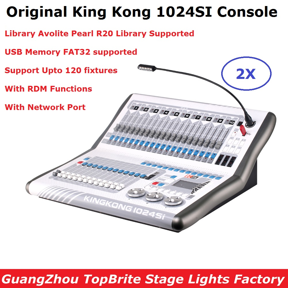 Free Shipping KingKong 1024SI Console Stage Lighting LED Par Moving Head Spot Lights Controller Professional Stage Dj Equipments|Stage Lighting Effect| |  - title=