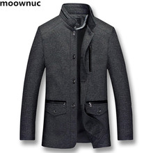 2018 Для мужчин осень зима стенд воротник шерсть пальто Для мужчин куртка черный хлопок шерстяное пальто Для мужчин s Куртки плюс XL-5XL тренчи Для мужчин