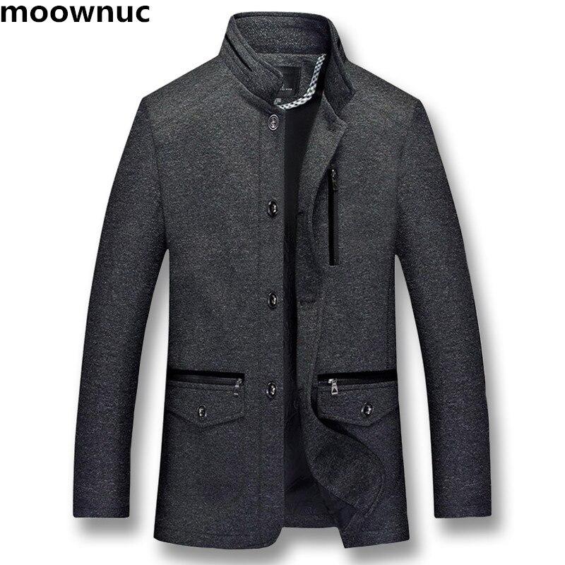 2018 Männer Der Herbst Winter Stehkragen Wolle Mäntel Männer Jacke Schwarz Baumwolle Woolen Mantel Herren Jacken Plus Xl-5xl Graben Mäntel Männer Modischer (In) Stil;