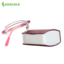 1181e937fd6 SOOLALA Mini Folding Womens Readers Compact Reading Glasses w  Case Ladies  Eyeglasses