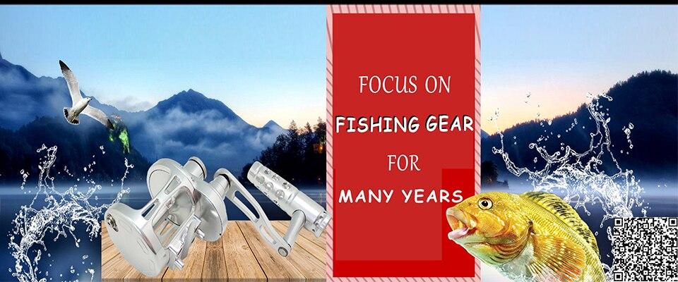Big Game Fishing Reel 2-Velocidade Alavanca Carretel