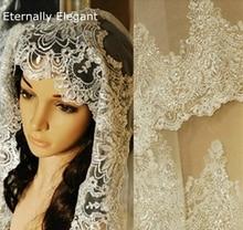 Voile De mariage blanc/ivoire, 1.5m, avec peigne, en dentelle, perles, mantine, accessoires De mariage, MD47