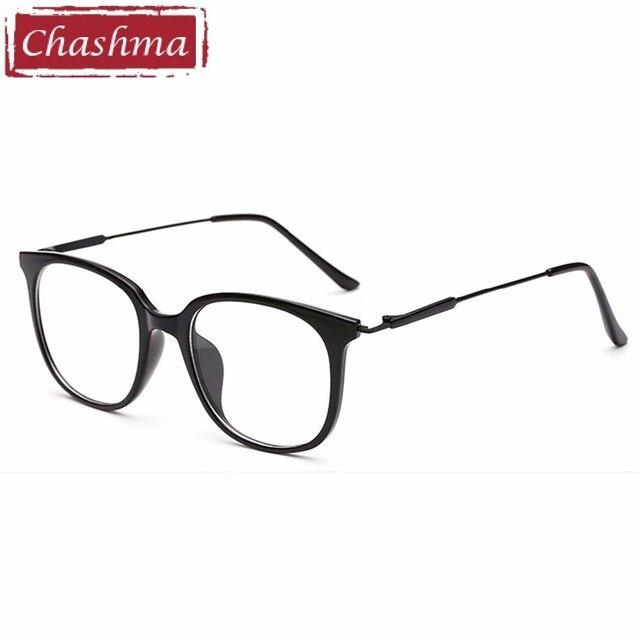 dfc6aaee2f7 Chashma Brand Full Rim Eyeglasses Fashion Optical Frames Clear Lenses TR90  Men Glasses Trend Glasses Big Circle Frames Women