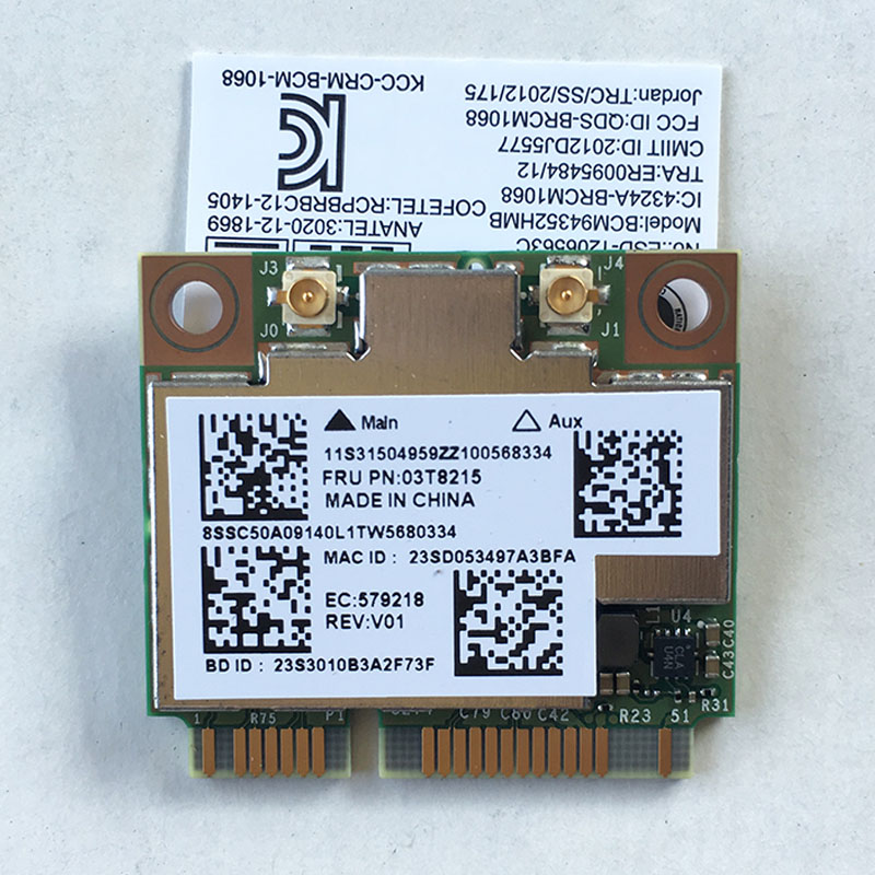 BCM4352+BCM20702 2*2 802.11ac WLAN & BT 4.0 WiFi Card For Lenovo ThinkCentre E73 E93Z M73 M78 M79 M83 M93P Series,FRU 03T8215 brother m79