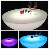 Brand New Hot sale Waterproof LED Coffee Table color changing Bar Furniture SK LF17 (D80*H22cm) 1pc