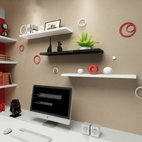 3 PCS 간단하고 현대적인 거실 벽 워드 보드 선반 선반 단어 보드 침실 벽 선반 연구 책장 XI2281725