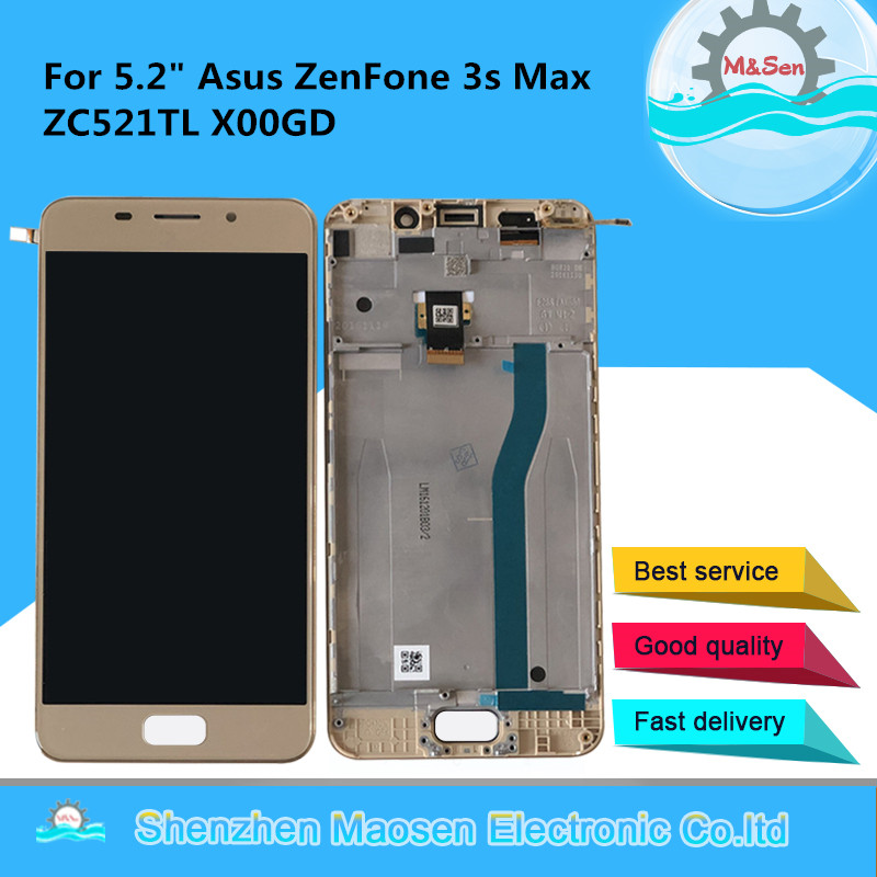 M&Sen For 5.2 ASUS Zenfone 3S Max ZC521TL X00GD LCD Display Screen With Frame+Touch Digitizer For Asus Pegasus ZC521TL DisplayM&Sen For 5.2 ASUS Zenfone 3S Max ZC521TL X00GD LCD Display Screen With Frame+Touch Digitizer For Asus Pegasus ZC521TL Display