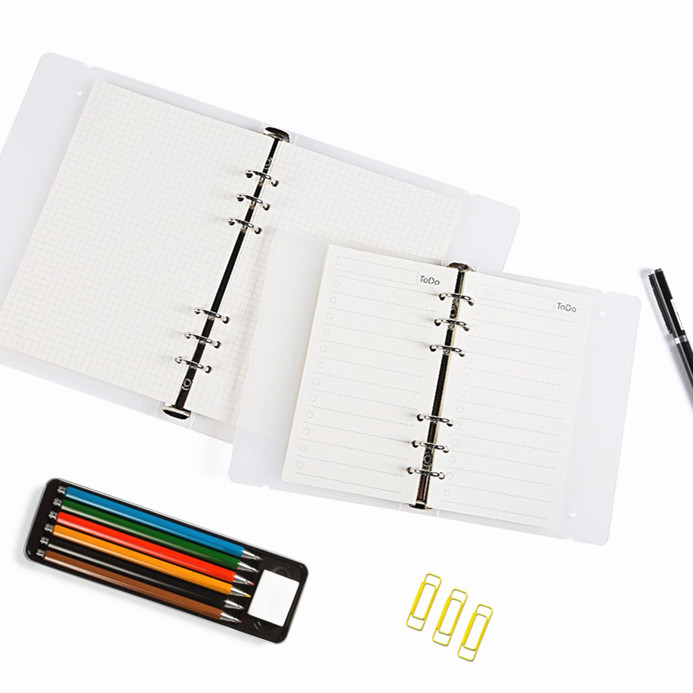 45 Sheets <font><b>A5</b></font> A6 Lined <font><b>6</b></font> <font><b>Holes</b></font> Traveler's Notebook Planner Filler Papers/Journal Dairy Inserts Refills/Loose-leaf <font><b>Binder</b></font> Paper image