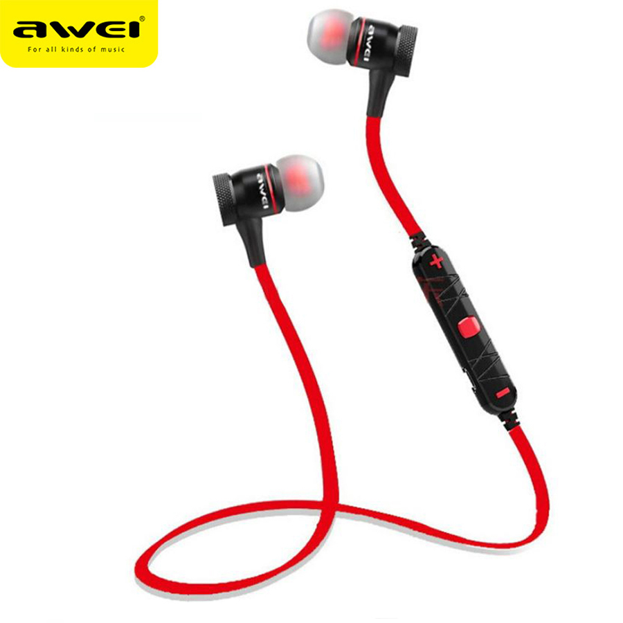 Awei A920BL Wireless Earphones Bluetooth 4.0 Headset with Microphone Sport Stereo In-ear Earbuds Music Noise Reduction for phone