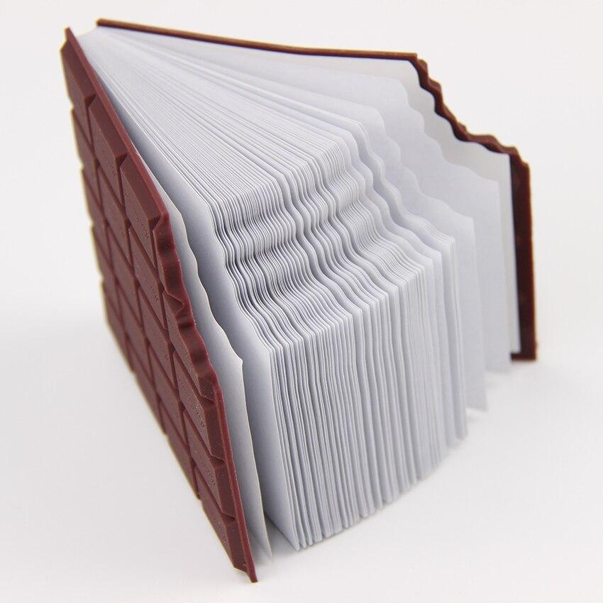 Купить с кэшбэком 1PC Cute Creative Stationery Kawaii Chocolate Memo Pad Sticky Notes DIY Notepad Office School Gifts