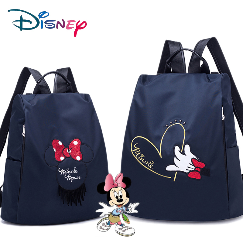 Disney Mummy Maternity Nappy Bag Travel Backpack Large Capacity Baby Bag Stroller Diaper Bag For Baby Care Insulation Bags Bow