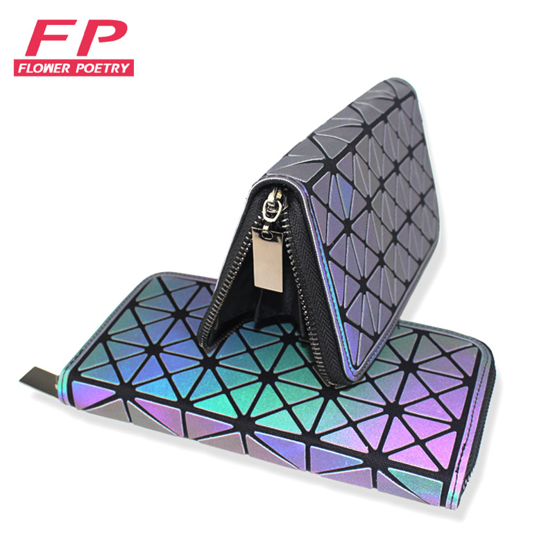 Flower Poetry 2017 New baobao Wallets Women Lady Geometric Lattice Luminous Wallet Clutch Bag Card Purse Women Phone Bags BaoBao настольные часы rhythm crg109nr06