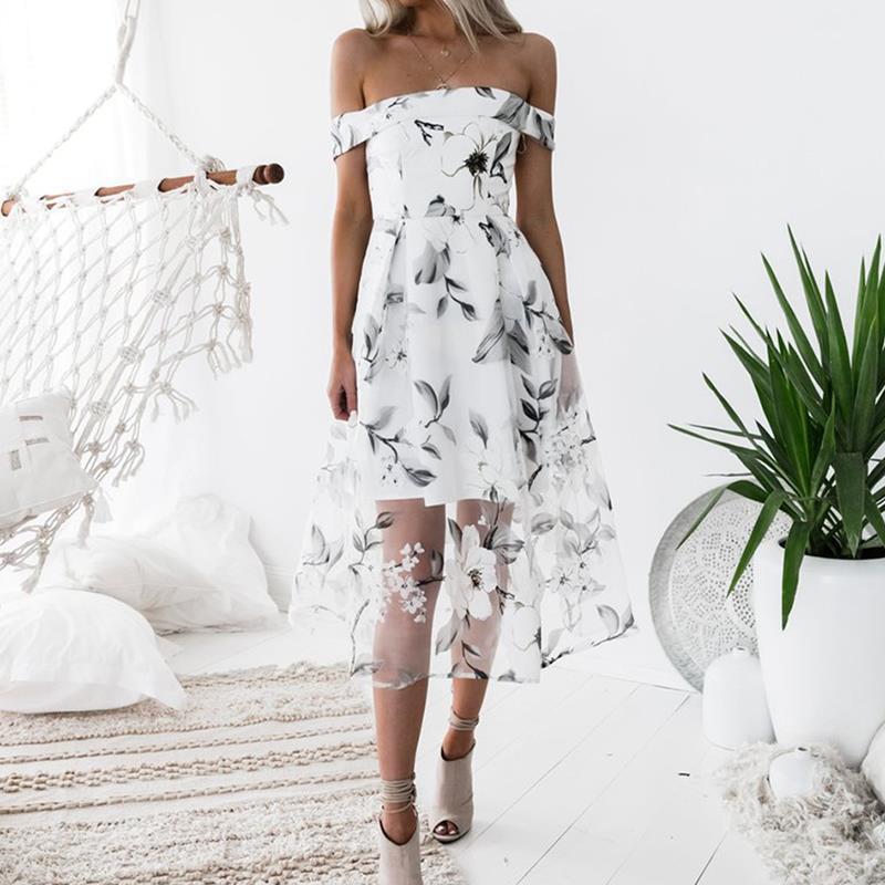 HTB1wgXdjlTH8KJjy0Fiq6ARsXXaW - FREE SHIPPING Women Summer Dress 2018 Floral Printed Off Shoulder JKP406