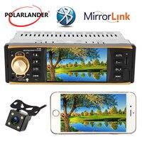 Bluetooth Autoradio Multilanguage 1 Din AUX FM Steering Wheel Control Audio Stereo Car Radio Mirror Link radio cassette player