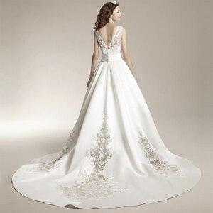 Image 3 - Fansmile 新 Vestido デ Noiva ウェディングドレス 2020 プラスサイズカスタマイズされたウェディングドレスの花嫁ドレス FSM 456T