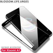 BLOSSOM Full Cover Tempered Glass For Xiaomi Mi A1 5 5s 5s Plus 5c xiaomi mi a1 screen protector 9H xiaomi mi a1 5x glass film(China)