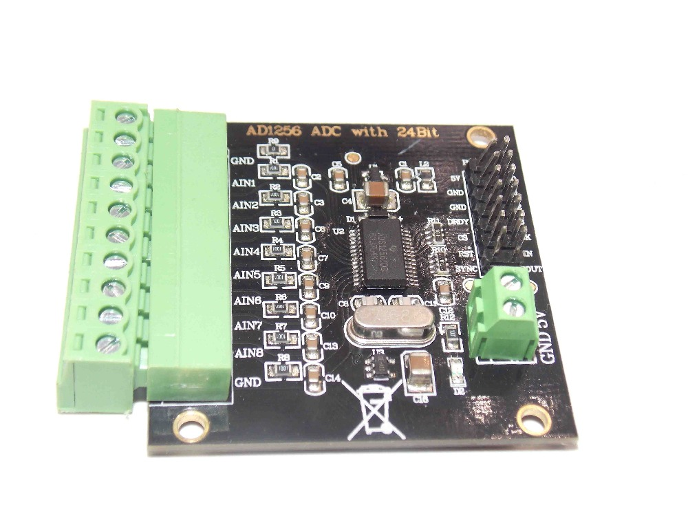 ADS1256 multi-channel high precision AD module analog to digital converter 24 bit data output rate ADC 30KADS1256 multi-channel high precision AD module analog to digital converter 24 bit data output rate ADC 30K