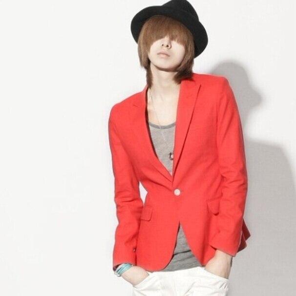 2015 Frühjahr Und Sommer Männlich Schlank Roten Anzug Fashion Kurze Bauweise 10 Incense Farbe Trend Blazer Männer Sängerin Kostüme Kleidung Dauerhafter Service