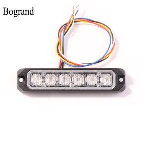 Image 1 - Bogrand 車 Led ストロボフラッシュ警告灯 12 v 赤点滅強力なミニ Led 緊急車両のライト同期化された