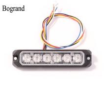 Bogrand, luz de advertencia parpadeante estroboscópica Led para coche de 12v, luces parpadeantes Rojas, Mini luces de vehículos de emergencia sincronizadas