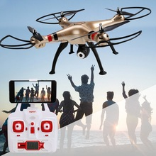 Syma X8HC Drone 2.4GHz 4 Channels 6 Axis Gyro Headless Wifi transmission Altitude Hold RC Quadcopter Helicopter RTF BD