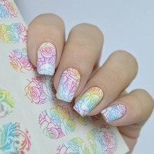 3 patterns/sheet Nail MAD Gradient Flower Vine Nail Water Decals Leopard Print Nail Art Tattoo Decals