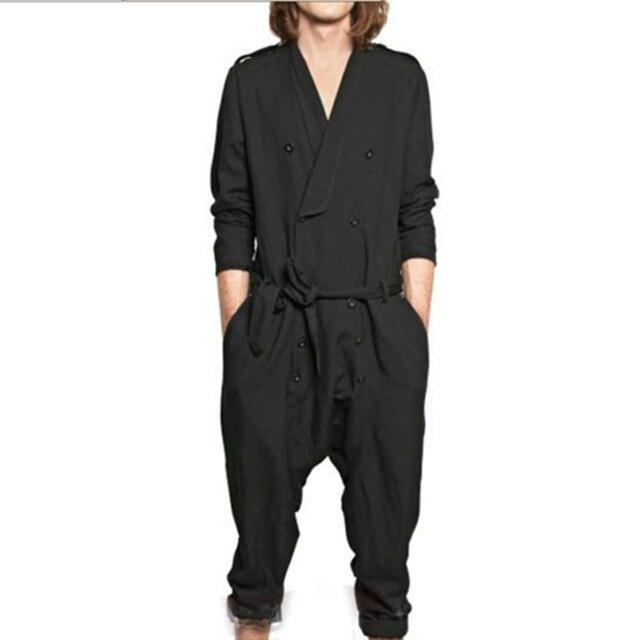 Пользовательские бренд мужской случайных брюки показ мужской двубортный свободные комбинезон кусок гарем брюки комбинезоны брюки