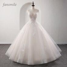Fansmile אשליה נסיכת כלה כדור שמלת חתונת שמלות 2020 Vestido דה Noiva בתוספת גודל מותאם אישית חתונה שמלות FSM 561F