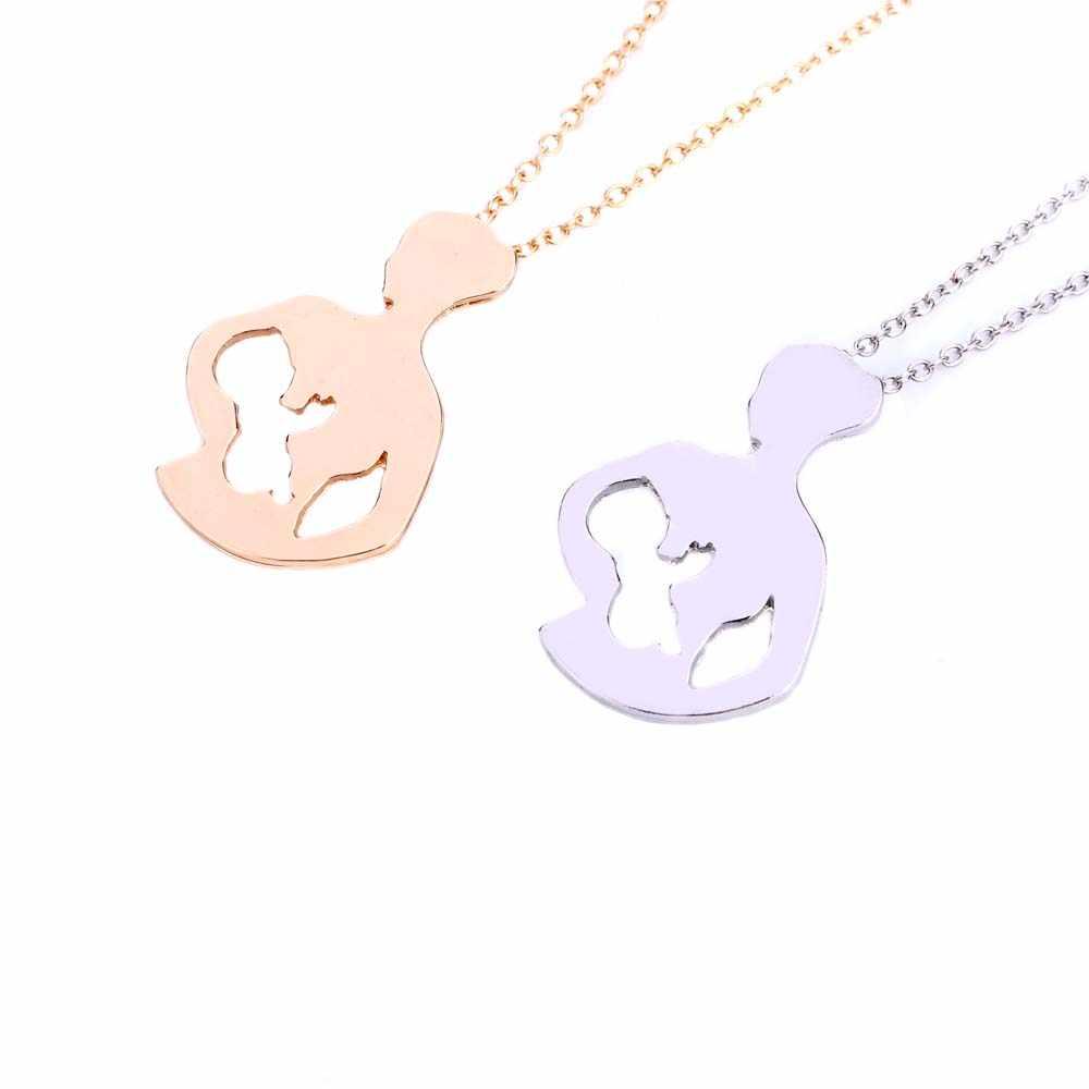 Lactancia madre y bebé collares y colgantes oro Color plata hecho a mano creativo regalo del Día de las madres