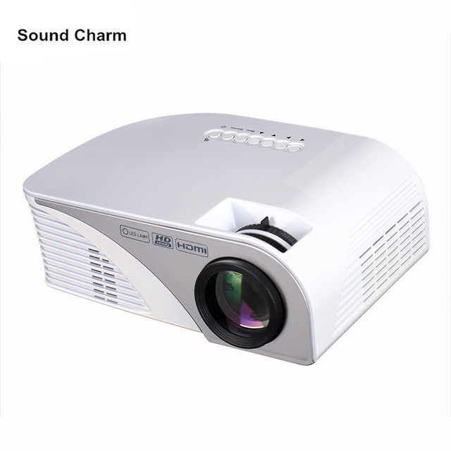 "Special Offers Newest Mini Portable LED Projector 1200Lumens RD805B Max 120"" Screen Optical Keystone AV/VGA/SD/USB/HDMI for Video Game Movie"