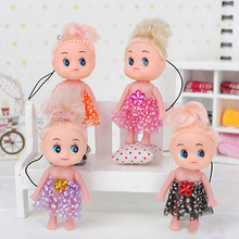 1Pc Cute Mini Ddung Doll for Girl Confused Doll Key Chain Phone Pendant Ornament High Quality(China)