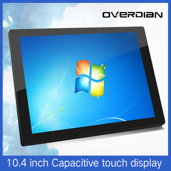 """10.4""""VGA/HDMI/TouchUSB Interface Industrial LCD Monitor/Display Capacitive Touch 1024*768 Metal Shell Embedded Installation"""