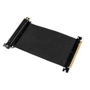 Image 1 - Cable de extensión de cinta PCI Express x16 a PCIE x16 macho a hembra Adaptador/elevador de tarjeta gráfica PCI E PCIE3.0 PCI E 16x para minería