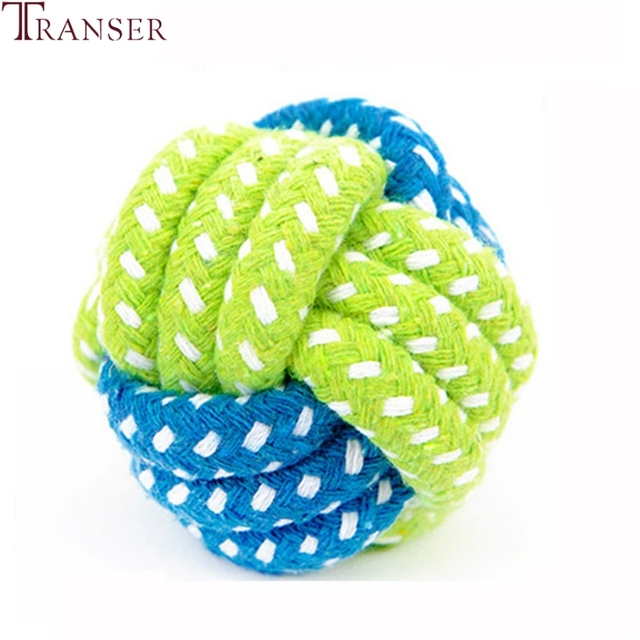 Transer Pet Supply Dog Toys Dogs Chew Teeth Clean Outdoor Traning Fun Playing Green Rope Ball Toy For Large Small Dog Cat 71229 3