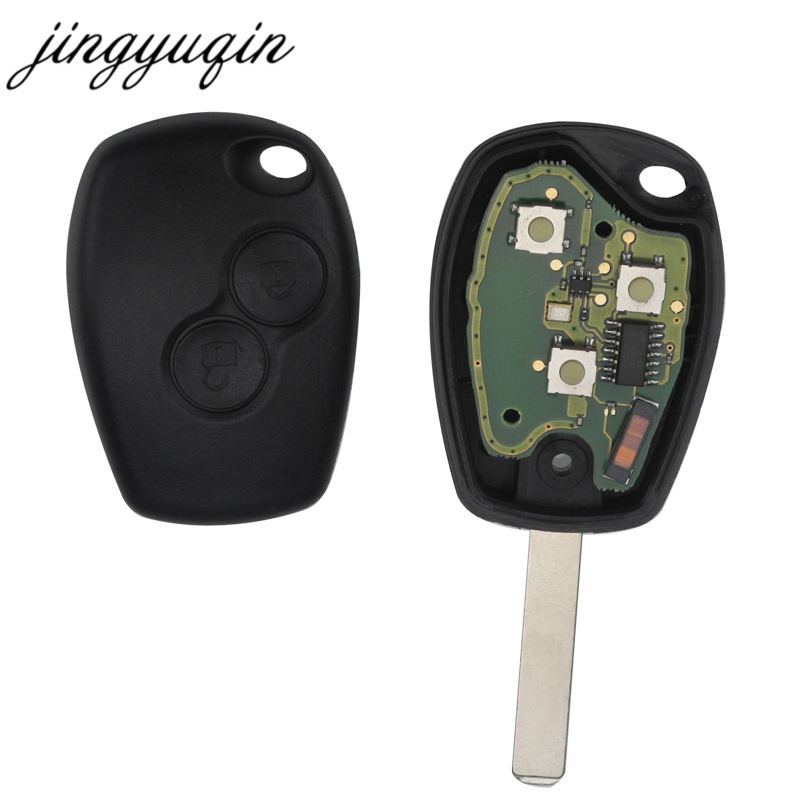 jingyuqin 2 Buttons Remote Control Key Cover Case For Renault Duster Modus Clio 3 Twingo DACIA Logan Sandero 433MHz PCF7947 Chipjingyuqin 2 Buttons Remote Control Key Cover Case For Renault Duster Modus Clio 3 Twingo DACIA Logan Sandero 433MHz PCF7947 Chip