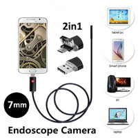 7mm 2in1 Android USB Endoscope Camera 2M 5M 10M Smart Android Phone OTG USB Borescope Snake