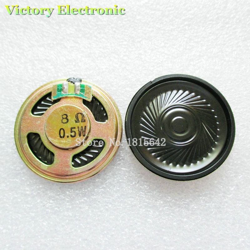 4PCS/Lot New 8 Ohm 0.5W Horn Speaker 40MM 4CM Diameter 8R 0.5W Small Loudspeaker Wholesale Electronic