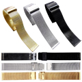 ZLIMSN Watchbands Stainless Steel Mesh Band Watch Gold Silver Black Belt Fashion Bracelet Watch Women Men 22 24mm A116