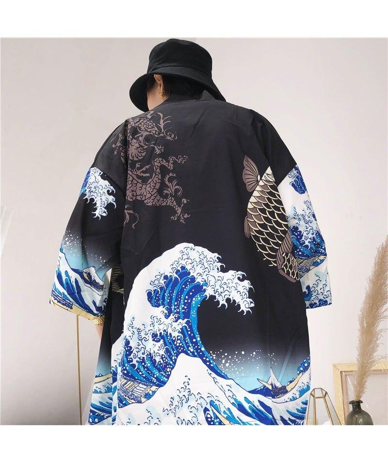 HTB1wg Wl9MmBKNjSZTEq6ysKpXau Zongke Japanese Kimono Cardigan Men Wave and Carp Print Long Kimono Cardigan Men Thin Mens Kimono Cardigan Jacket Coat 2018