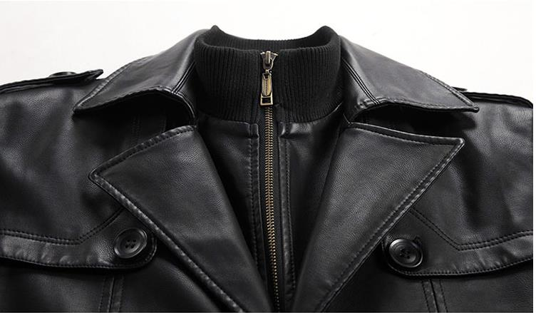 HTB1wg ieoGF3KVjSZFvq6z nXXa5 Batmo 2019 new arrival autumn&winter real Leather thicked trench coat men,Leather jacket men,plus-size S-5XL