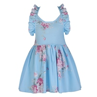 2017 New Summer 12M-10Y Sleeveless Beach Sundress Party Dress girls outfits High Quality Baby Girls Summer Printed Dress
