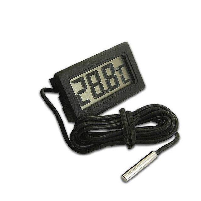 120pcs/lot LCD Display Refrigerator / Aquarium Fish Tank Embedded Electronic Digital Thermometer