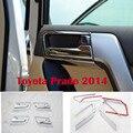 8 PCS Chrome Interior Maçaneta da porta Cobre Para Toyota Land Cruiser Prado FJ 150 Acessórios