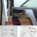 8PCS Chrome Interior Door Handle Covers For Toyota Land Cruiser Prado FJ 150 Accessories